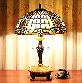 16 Inches European Tiffany Lamp Eye Protection Suitable For Bedroom Bed D