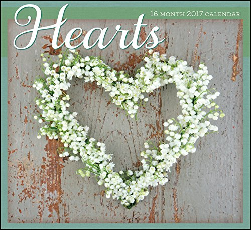 2017 Planners - Hearts - 16 Month Religious Wall Calendars w/ Different KJV Scriptures & Photos for each Month - Printed on Linen Embossed Heavyweight Paper Stock (Personal Photo Calendar compare prices)