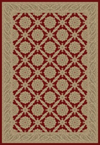 Charlemagne Aubusson Red Rug Rug Size: 5'3