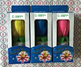C-XWY Amazing Musical Fountain Sparkling Birthday Candle Flower Special For Your Amazing Birth- (3, Pink+Blue+Yellow)