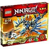 Lego 2521 Ninjago - Le combat du dragon de foudre - exclusif Pilote dŽ Hélicoptère Squelette et Toupie exclusif