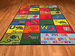 PT1 Alphabet Kids Baby Toddler Playtime Educational Colorful 5x8 Actual Size 5\'3\
