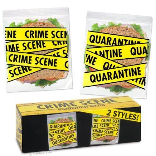 Crime Scene Sandwich Bags front-987119