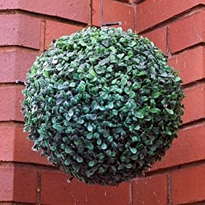 28cm Topiary Ball Bush With 20 Led Solar Powered Light Garden Decoration by Generic