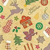 タカ印 クリスマス包装紙 10枚ロール カラフルシルエット 全判 49-4534