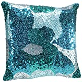 Shahenaz Home Shop Luxe Glamour Poly Dupion Cushion Cover - Turquoise