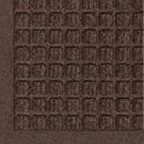 "Andersen 280 WaterHog Fashion Polypropylene Fiber Entrance Indoor Floor Mat, SBR Rubber Backing, 3 Length x 2 Width, 3/8"" Thick, Dark Brown"
