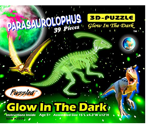 Puzzled Glow In The Dark 3D Jigsaw Parasaurolophus Puzzle - 1