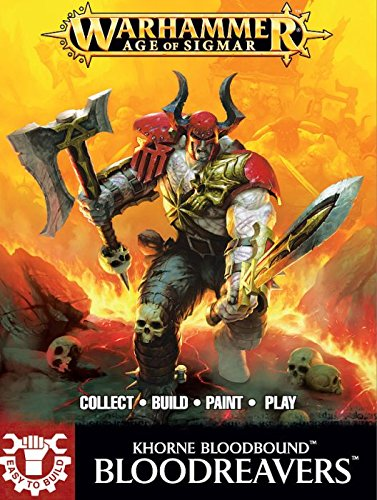 Easy to buid BLOODREAVERS Warhammer 5 MINIATURE Age of Sigmar GAMES WORKSHOP Citadel KHORNE BLOODBOUND età 12+