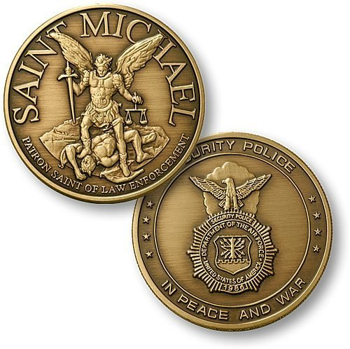 Saint Michael - USAF Security Bronze Antique - 1