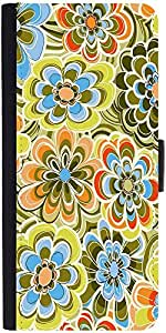 Snoogg Yellow Flower Pattern 2478 Designer Protective Flip Case Cover For App...