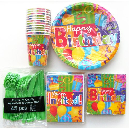 Birthday Party Kit for 12 - Including Invitation