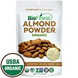 Biofinest Almond Powder - Extra Fine Ground - 100% Pure Antioxidants Superfood - USDA Certified Organic Vegan Raw Non-GMO - Boost Digestion Weight Loss - for Smoothie Beverage (4 oz Resealable Bag) (Tamaño: 4  Ounces)