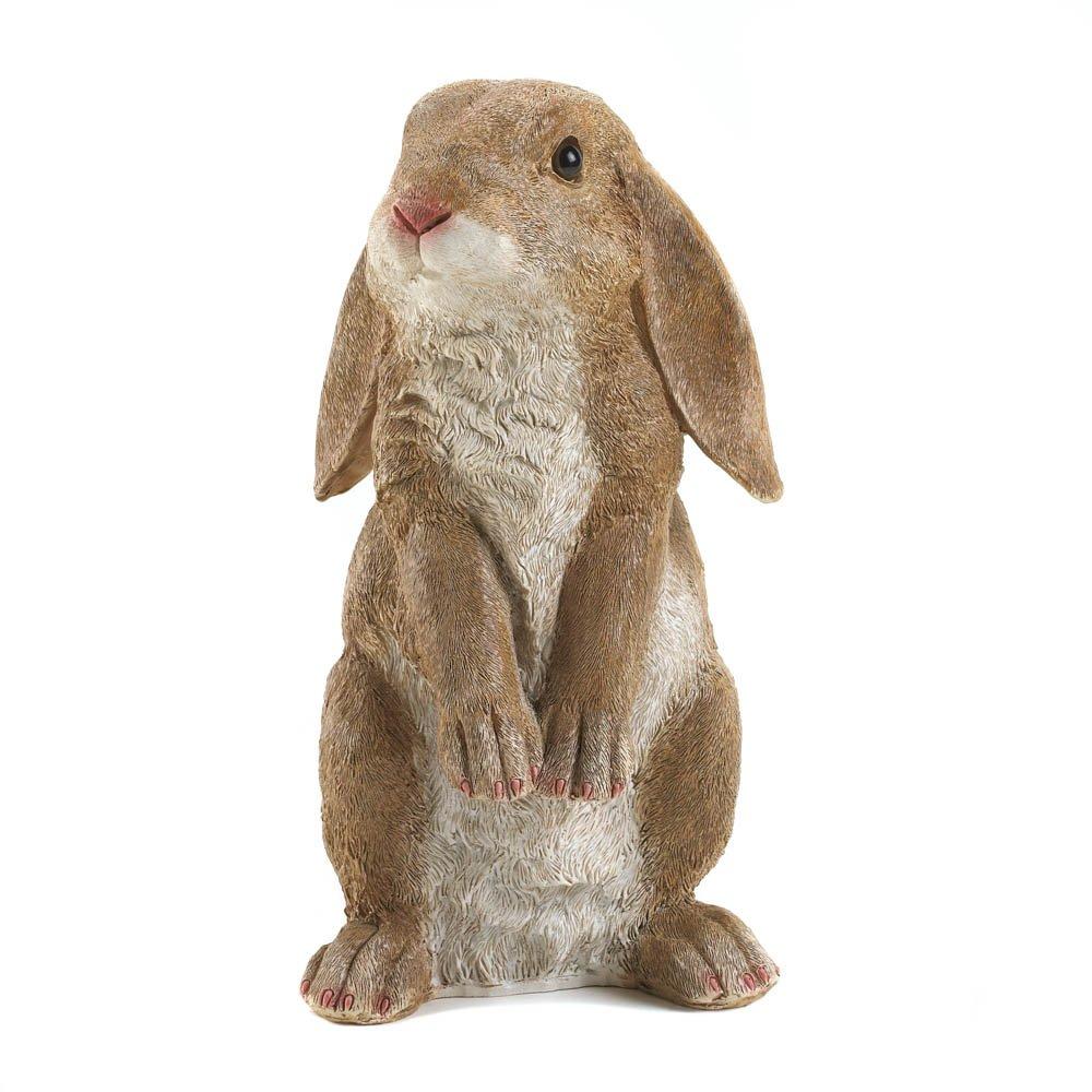 Eastwind Gifts 10016953 Curious Rabbit Garden Statue