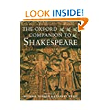The Oxford Companion to Shakespeare (Oxford Companions)