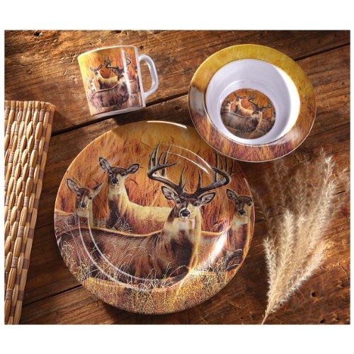 Castlecreek 12-Pc. Whitetail Melamine Dinnerware Set