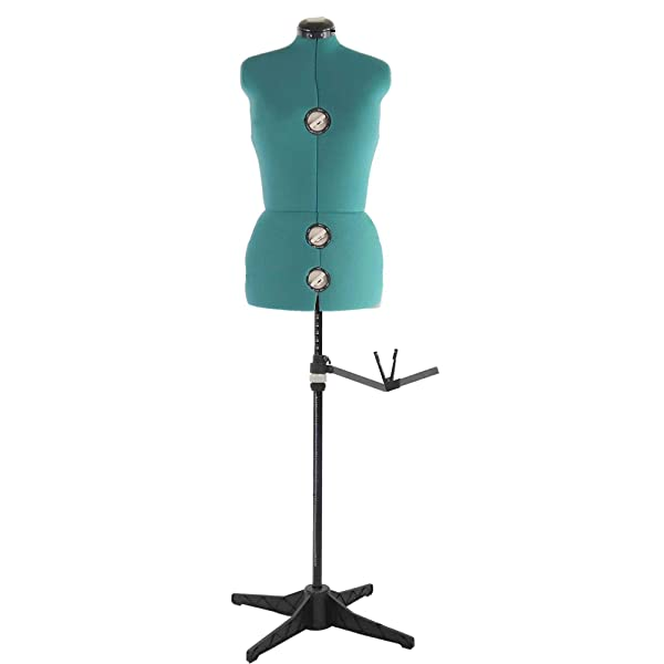 13 Dials Mannequin Dress Form with Tri-Pod Stand, Adjustable Pinnable Female Torso Body for Sewing, Dressmakers Up to 69 Inch Shoulder Height (Medium, Green) (Color: green, Tamaño: Medium)