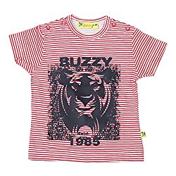 Buzzy Baby-Boys' Cotton T-Shirt (Red,9-12M)