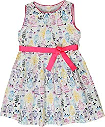 Sequences Girl's Dress(White, 9 - 10 Years )