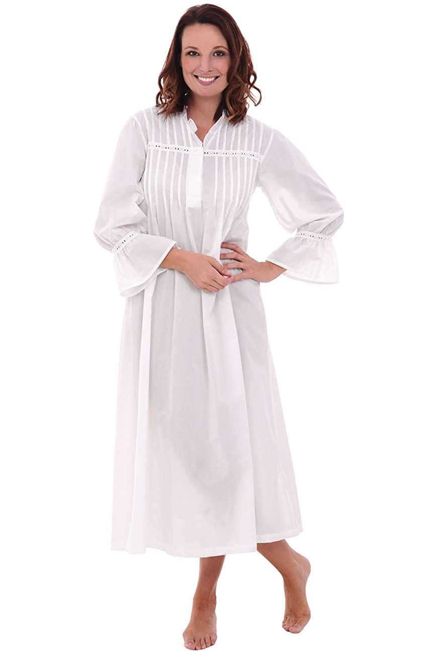 Del Rossa Women's Romeo and Juliet Cotton Nightgown, Bell Sleeve Victorian Sleepwear 0