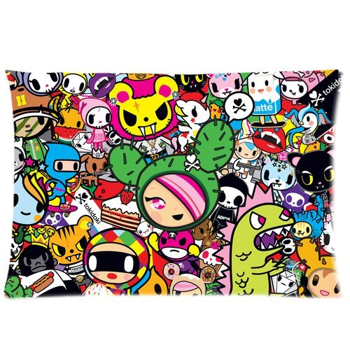 Tokidoki All Stars 20X30 Two Sides Custom Cotton & Polyester Pillow Case Cover Cushion Cover Model: CHH-0014?Build-to-Order?