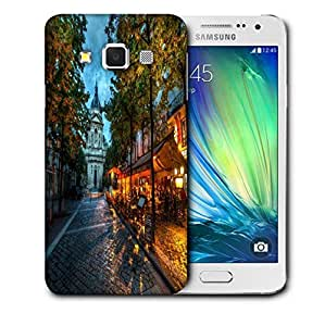 Snoogg Streets At Nite Printed Protective Phone Back Case Cover For Samsung Galaxy A3