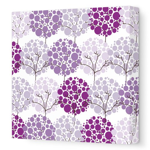 "Avalisa Stretched Canvas Nursery Wall Art, Park, Purple Hue, 12"" X 12"""