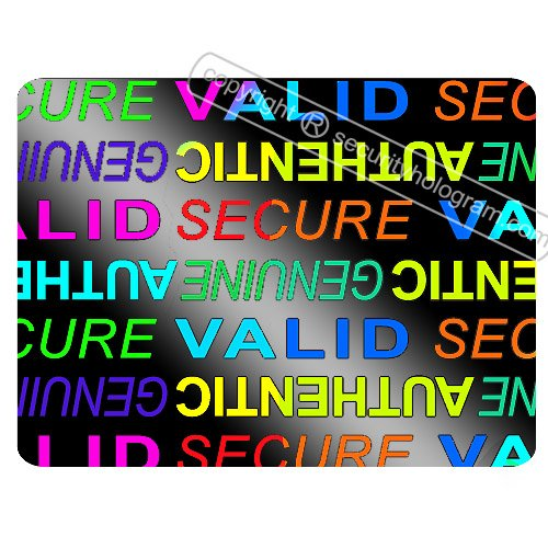 "63 3D Stickers Protective Security Holograms ""Secure, Valid, Genuine, Authentic"" Tamper Evident 0.79"" x 0.59"" (20 mm x 15 mm)"