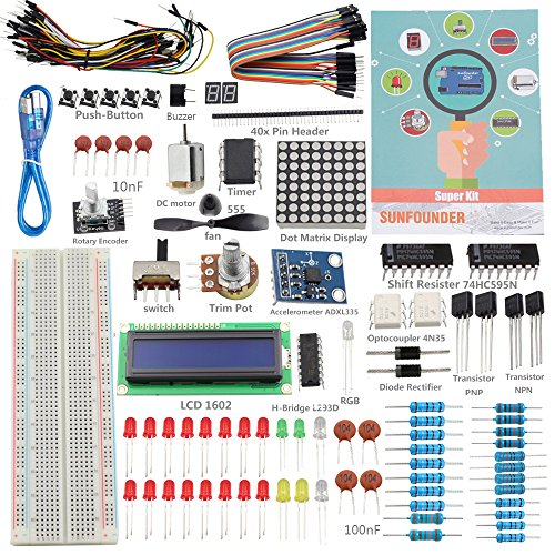 SunFounder-Project-Super-Starter-Kit-with-Tutorial-Book-for-Arduino-UNO-R3-Mega2560-Mega328-Nano-Super-Starter-Kit-Including-73-Page-Instructions-Book