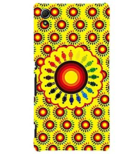 Fuson Yellow Circles Pattern Back Case Cover for SONY XPERIA Z4 - D3909