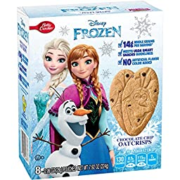 Betty Crocker Snacks Disney Frozen Chocolate Chip Oat Crisps, 8 Count (Pack of 12)