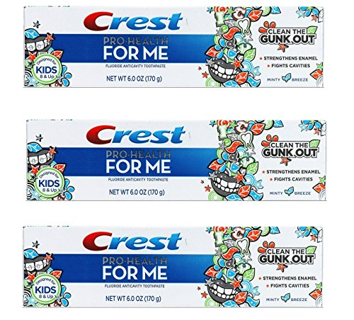 Crest Pro-health for Me Anticavity Fluoride Minty Breeze Flavor Toothpaste 6 Oz (Pack of 3) (Crest Pro Health Minty Breeze compare prices)