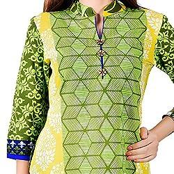 Pioneerpragati Multicolour Jaipuri Abstract Designer Printed Cotton Kurti