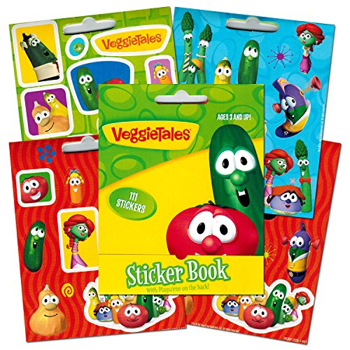 Veggie Tales Mini Sticker Book, 111-count (4 X 5 Inches)