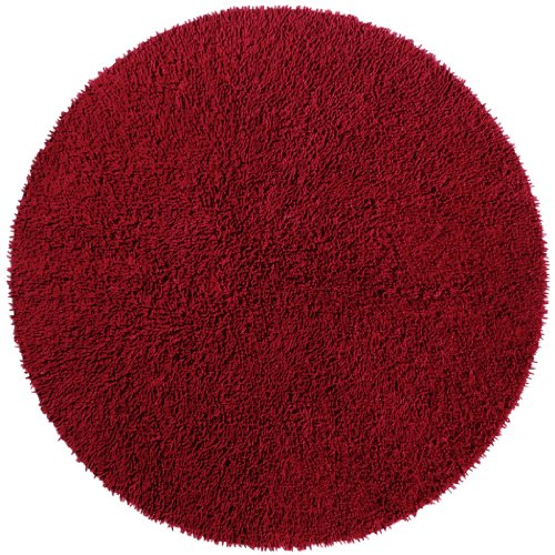 Burgundy 3' Round Shagadelic Chenille Twist Rug with Free Shipping