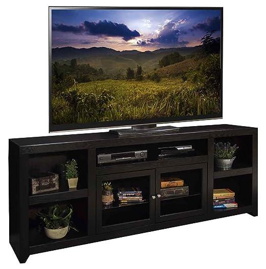 75.06 in. TV Cabinet in Mocha Finish