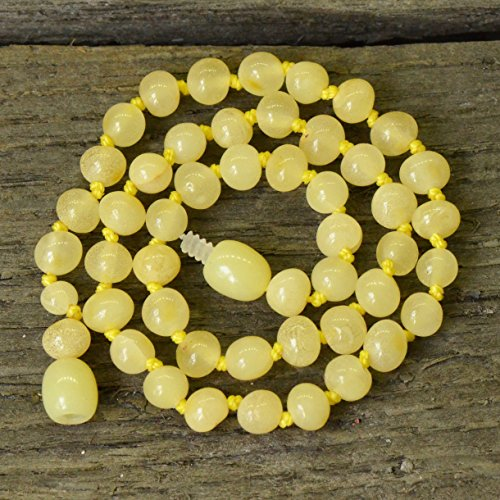 Baby Necklace for Teething From Baltic Amber - Royal Butter Amber - Best Amber Quality - 1