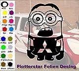 Minion 3 Mitsubishi Hater Domo Bitch Race Power PS JDm Sticker OEM Fun Aufkleber Hater