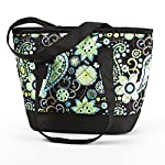 Anna Insulated Quilted Lunch Tote (Green Paisley)