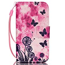 """buy Iphone 6/6S Case, [Built-In Card Holders] Fashion Folding Pu Leather Case Wallet Cover Unique Stand Folio Shell [Magnetic Closure] With Wrist Strap Skin For Apple Iphone 6/6S (4.7"""")"""