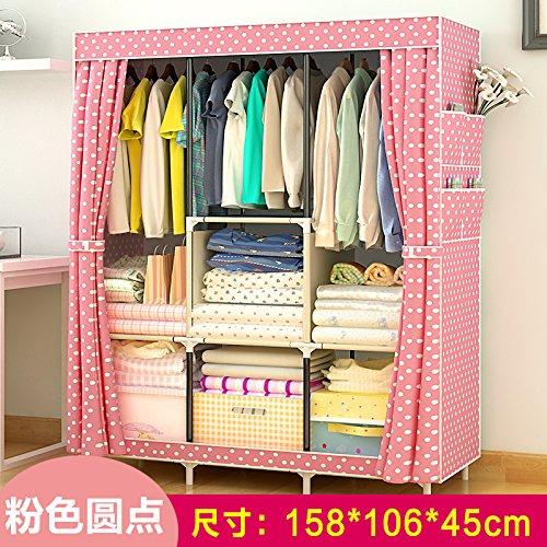 Vêtements pliable armoire placards tige Double Non-tissé en organisateur de stockage UN??2608