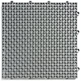 Duragrid Indoor Outdoor Interlocking 12''X 12'' Deck and Patio Tiles, Pack of 30, Gray