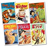 Happy Cat First Readers For Boys 6 Books Collection Pack Set RRP: �23.94 (What Dino Saw, Tim and Tig, Pop-up Fox , The Littlest Pirate, The Gorilla Suit , Bad Buster)by Various