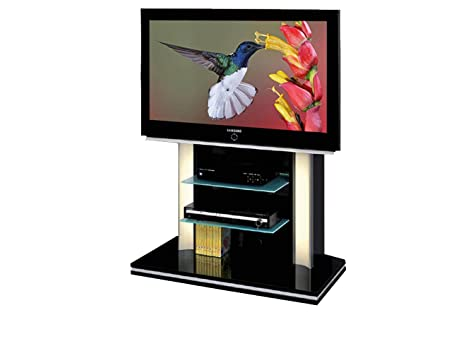 Cantilever TV Stand for LCD, LED or Plasma Screens 37,40,42,46,47,50,52 inch by SAMSUNG, LG, SONY, PHILIPS, TOSHIBA, PANASONIC, JVC. (Black Gloss)