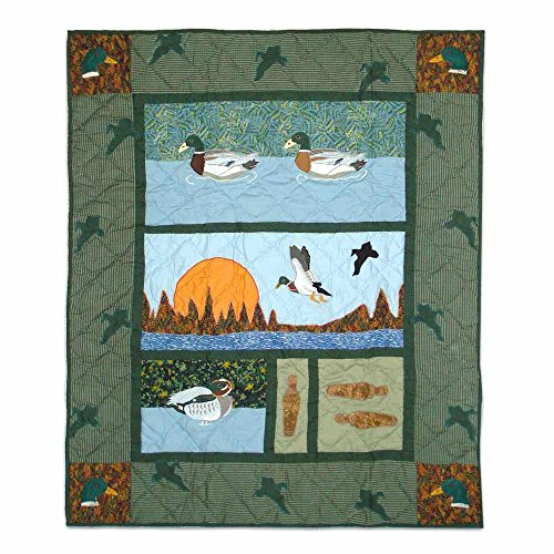 Patch Magic 36-Inch by 46-Inch Mallard Quilt Crib - 1