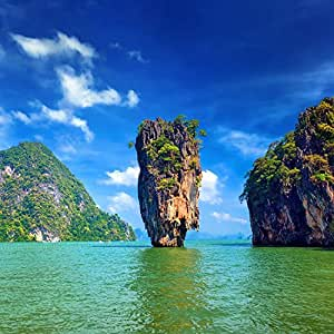 """Khao Phing Kan Thailand Asia Art Poster 13"""" X 13"""": Kitchen & Dining"""
