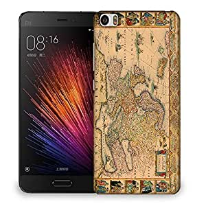 Snoogg World Map Designer Protective Back Case Cover For SONY XPERIA M5