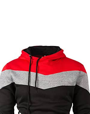 88b6520d Mooncolour Mens Novelty Color Block Hoodies Cozy Sport Autumn Outwear  0163_black US Medium