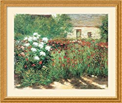 Garden in Giverny Framed Print by John Leslie Breck