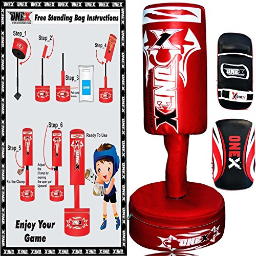 onex-new-free-standing-boxing-punch-bag-stand-heavy-martial-arts-skipping-rope-free-gift